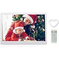 """Andoer 15.6"""" Cornice Foto Digitale LED per Musica e Film Movie Player Supporto MP3 / MP4 / Calendario / Sveglia Regalo di Natale con Telecomando"""