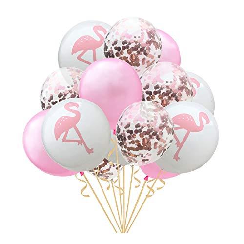 ZSQQSCL Navidad Año Nuevo Globo Globo Confeti Establecer Patrones Flamingo Mall Hotel Interior Atmósfera Festiva Decoración De Diseño,E