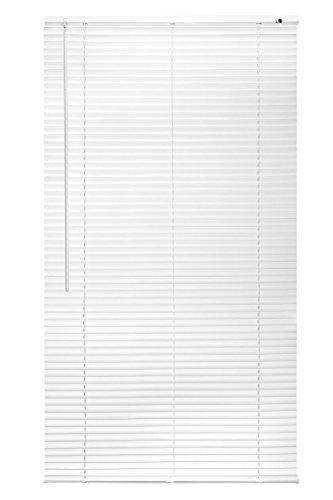 Lichtblick PJ.120.160.01 Jalousie Kunststoff - Weiß - 120 cm x 160 cm (B x - Weiss Vinyl Jalousie