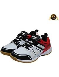 Li-Ning Attack III Non-Marking Badminton Shoes, UK 7 (White/Black)