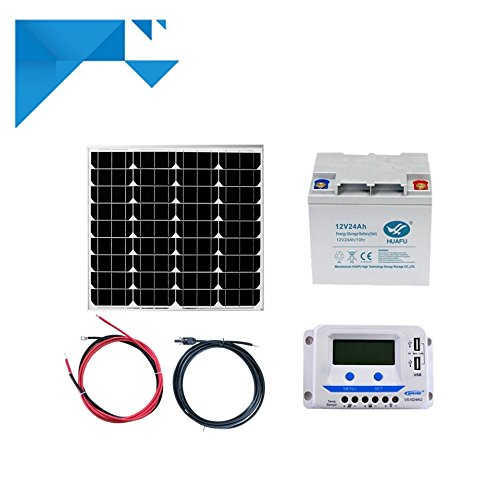 Kit Solaire 50W 12V PWM EPEVER Autonome avec Batterie 288W