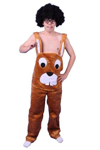 Plüschkostüm Hasen Kostüm Latzhose braun Gr. L