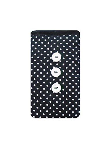 Polka Dot Noir Imprimer Chaussettes Apple pour iPod - Apple iPod Touch