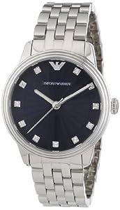 Emporio Armani AR1653 - Reloj analógico de cuarzo para mujer, correa de acero inoxidable color plateado de Emporio Armani
