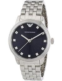Emporio Armani AR1653 - Reloj analógico de cuarzo para mujer, correa de acero inoxidable color plateado