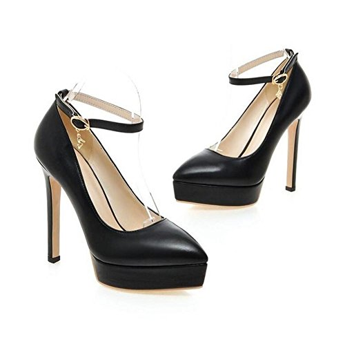 Scarpe impermeabili tallonati della piattaforma - Women 's Ufficio di nozze da tennis scarpe da donna partito intelligente Fibbia sottile con alta black