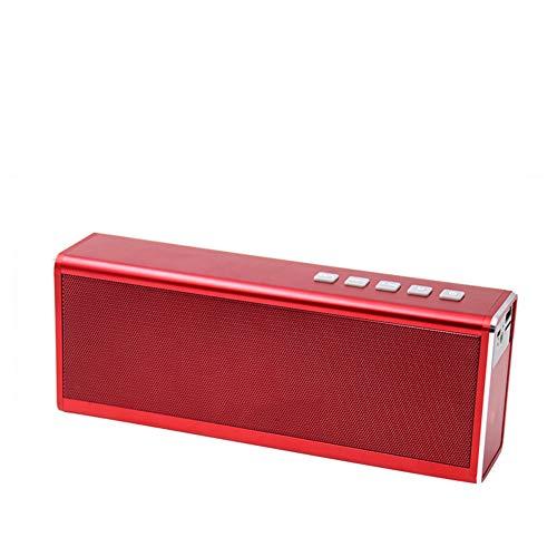 R-SOUNDBAR Bluetooth 4.0 Lautsprecher Subwoofer,20 Stunden Wiedergabezeit Im Freien, Freisprechfunktion, TF-Karte, AUX-Audioeingang, U-Disk-Soundkartenwiedergabe,Red (20 Soundbar)