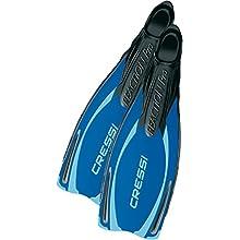 Cressi Men's Reaction Pro Swim Fins, Blue, 7/7.5 UK