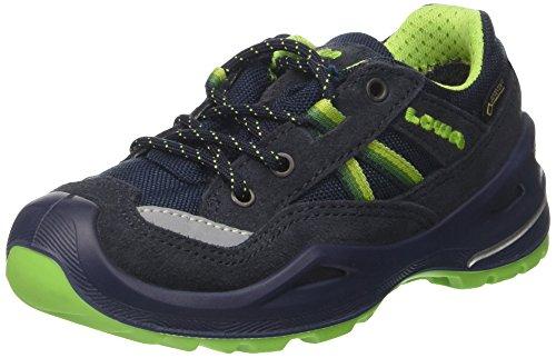 Lowa Simon Ii Gtx Lo, Scarpe da Escursionismo Unisex – Bambini Blu (Navy/Limone)