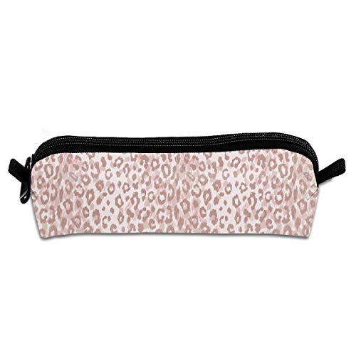 Tall Leopard (Blush Leopard Pencil Pouch Bag Stationery Pen Case Makeup Box with Zipper Closure 21 X 5.5 X 5 cm)