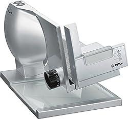 Bosch MAS9454M Allesschneider (140 Watt, 2-in-1 MultiCut Messer aus Edelstahl, großer Metallschlitten) silber / metallic