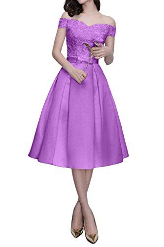 Promgirl House - Robe - Trapèze - Femme violet/transparent
