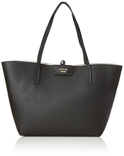 GUESS BOBBI INSIDE OUT TOTE EU642223 BLACK W/WHITE
