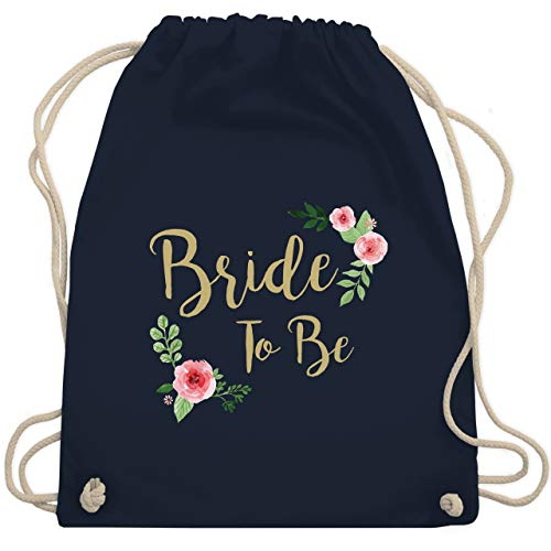 JGA Junggesellinnenabschied - Bride To Be - Unisize - Navy Blau - WM110 - Turnbeutel & Gym Bag