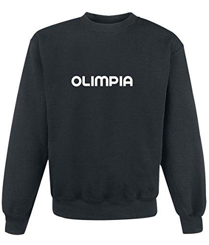 Felpa Olimpia - Print Your Name Black
