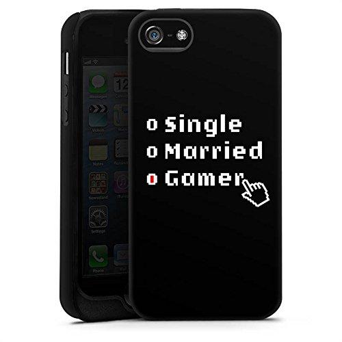 Apple iPhone X Silikon Hülle Case Schutzhülle Gamer Spruch Zocken Tough Case matt