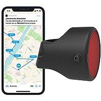 Invoxia Bike Tracker, Localizador GPS Antirrobo para Bicicleta, Negro, Suscripción de 3 años Incluida