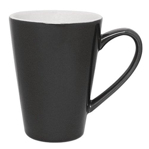 12x Olympia Cafe Latte tazas carbón 340ml–tazas de café Espresso de porcelana