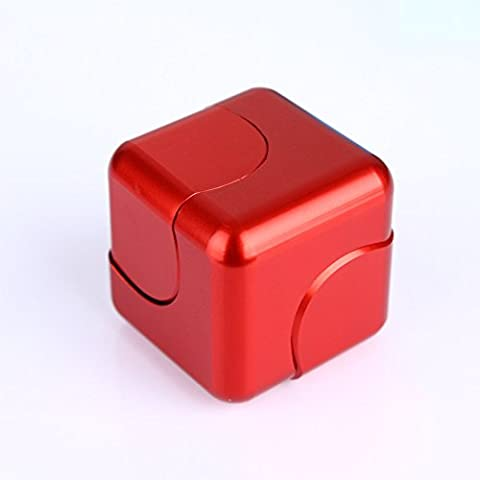 hkhuixin - New Metal Aluminum Alloy Magic Cube Hand Spinner Whirlwind Square Finger Gyro - Killing Time Toys Infinite Cube For ADD, ADHD