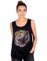 5d665edfa KOALA BAY Camiseta Tirantes Lion Negro