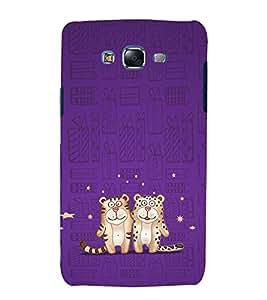 EPICCASE Posing Tiger Mobile Back Case Cover For Samsung Galaxy J7 (Designer Case)