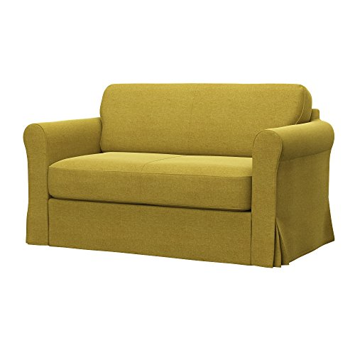 Soferia - IKEA HAGALUND Funda para sofá Cama, Classic Dark Yellow