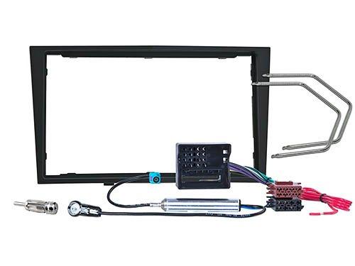 Kit di installazione per doppio DIN, per Opel Astra H/Corsa D/Zafira B/Antara/Tigra/Astra Twin Top (Carbone/nero)