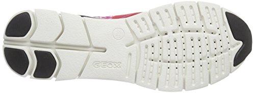 Geox D Sukie B, Baskets Basses Femme Rouge (C7G9B)
