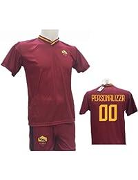 53bd94f435 Completo Calcio Maglia Roma Personalizzabile + Pantaloncino Replica  Autorizzata 2017-2018 Bambino (Taglie 2