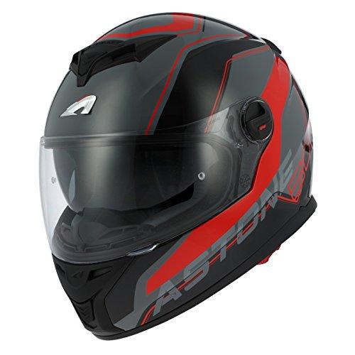 Astone Helmets gt800-wire-brs casco Moto Integral GT 800, Negro/Rojo, talla S