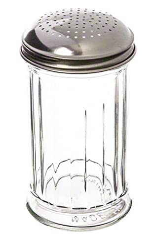 American Metalcraft GLA318 Glass Dredge Shaker with Lid, 12-Ounce,