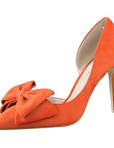WSS 2016 Chaussures Femme-Extérieure / Habillé-Noir / Jaune / Rose / Rouge / Gris / Orange-Talon Aiguille-Talons-Talons-Laine synthétique gray-us8 / eu39 / uk6 / cn39