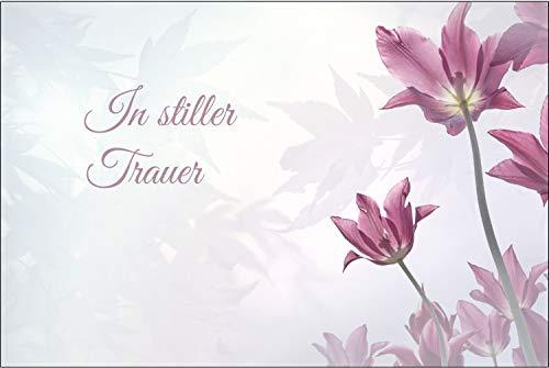 Merz Designkarten 10 Stück einfühlsame Premium-Trauerkarten/Beileidskarten im Set mit 10 Umschläge - Anteilnahme Trauerkarte, Spruch
