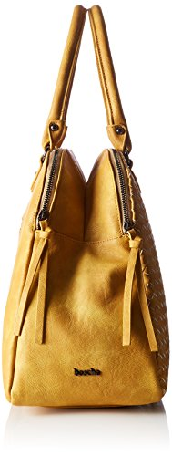 Boscha - Shopper Bag, cartella Donna Giallo (Yellow)