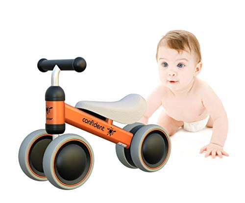 Baby Laufrad Kinder Spielzeug ab 1 Jahr Tüv Geprüft Kleinkind Dreiräder Erst Fahrrad für 10-24 Monate Orange