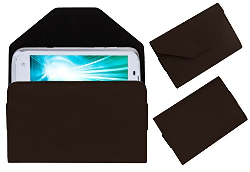 Acm Premium Pouch Case For Lava Xolo A800 A-800 Flip Flap Cover Holder Brown  available at amazon for Rs.179