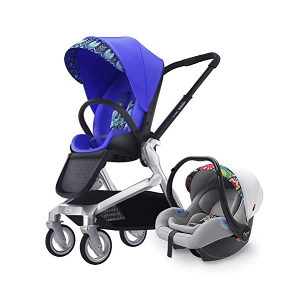 ZZLYY Lightweight Baby Stroller for Toddler Travel, Infant Convenience Stroller,Portable Airplane Travel Carry On Strollers,Folding Umbrella Pram,Blue ZZLYY S 1