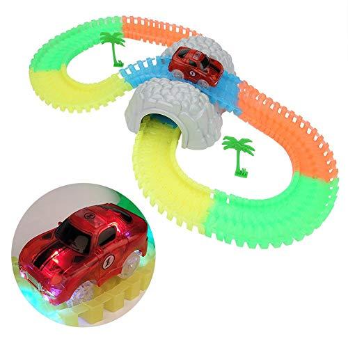 Pista De Carreras Juguete Pistas Luminosas Bricolaje Tecnología Innovadora Enrutamiento Pista De Montaje Flexible Serie De Carreras Regalos para Niños