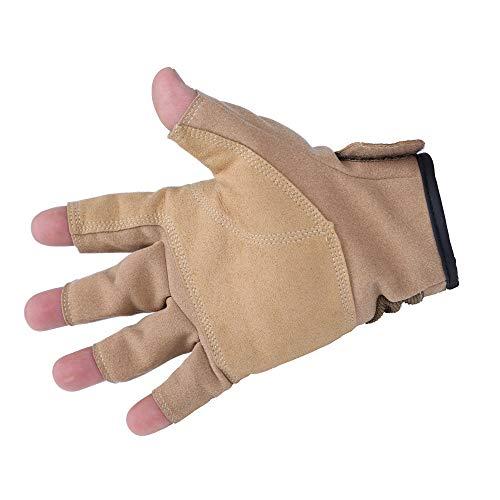 VBNM Kletter-Downhill-Handschuhe Handschuhe Abseilen Kabelhandschuhe Semi-Outdoor-Ausrüstung Bezieht Sich auf rutschfeste Lederhandschuhe L Andere -