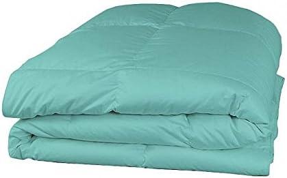 600TC Italian Finish 1 PC 300 gsm Fiber fill Comforter PC  4 PC Comforter Sheet set (fino a 50,8 cm tasca profonda) Aqua blu tinta unita uk-single taglia 100% cotone egiziano – by Paradise oltremare 8ee08c