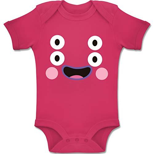 Shirtracer Karneval und Fasching Baby - Monster Kostüm Karneval - 3-6 Monate - Fuchsia - BZ10 - Baby Body Kurzarm Jungen Mädchen