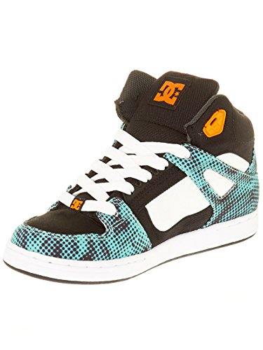 Chaussures Rebound Tx Se Black/White/Blue Jr - DC Shoes Noir