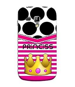 PrintVisa Designer Back Case Cover for Samsung Galaxy S Duos S7562 (Big Black Polka Dots Princess Queen)