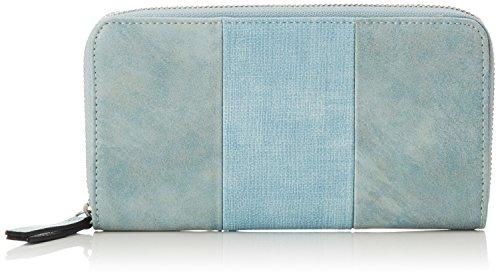 s.Oliver (Bags Damen Portemonnaie Geldbörse, Blau (Ice Flow), 2x12x20 cm