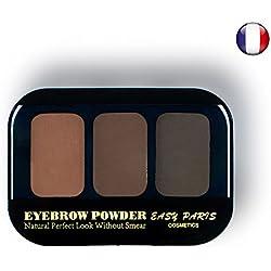 Kit Ombres fard à sourcils poudre crème 3 couleurs Brun chatain Naturel de Easy Paris 00