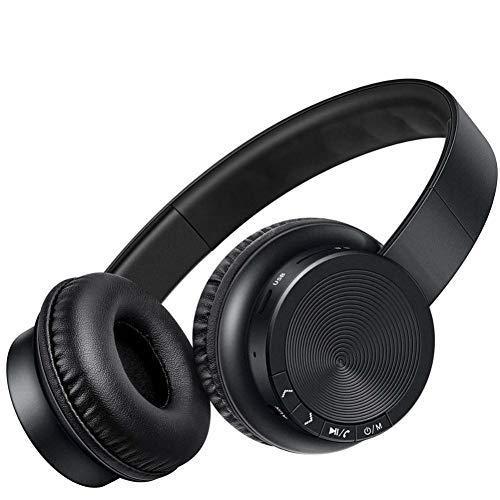 NESDNK Kabelloses Bluetooth-Headset Drahtlose Kopfhörer Bluetooth Kopfhörer Kopfhörer Bass Stereo Kopfhörer mit Mikrofon für PC Handy xiaomi iPhone