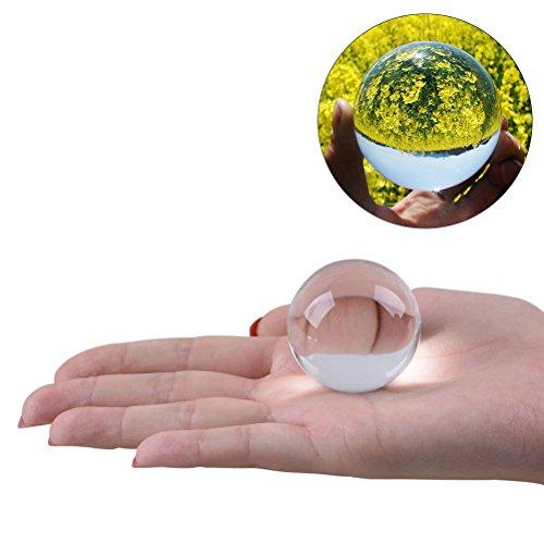 WINOMO Kristallkugel Glaskugel Klar für Feng Shui Fotografie Meditation Hochzeit Haus Büro Dekoration 5cm (Transparent Weiß) (Kristallkugeln Wahrsagen)