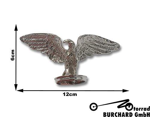 gur für z.B. Schutzbleche Standing Hawk 6 cm hoch Chrom ()