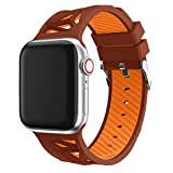 BZLine für Apple Watch Armband 38mm 40mm 42mm 44mm, Sport Weiches Silikon Armband Strap Band Ersatz Uhrenarmband für iWatch Apple Watch Series 4/3/2/1