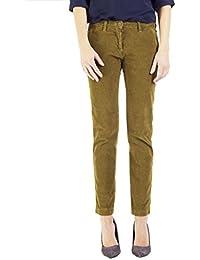 6fee8a6ea6c62 Carrera Jeans - Pantalon 785 pour Femme, Style Capri, Couleur Unie, Velours,
